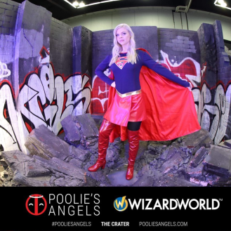 Poolie's Angel's booth at Wizard World